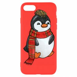 Чохол для iPhone 8 Baby penguin with a scarf