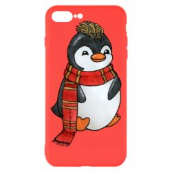 Чохол для iPhone 8 Plus Baby penguin with a scarf