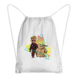 Рюкзак-мешок Baby yoda and baby groot