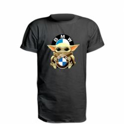Подовжена футболка Baby yoda bmw