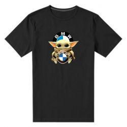 Чоловіча стрейчева футболка Baby yoda bmw