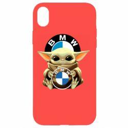 Чохол для iPhone XR Baby yoda bmw