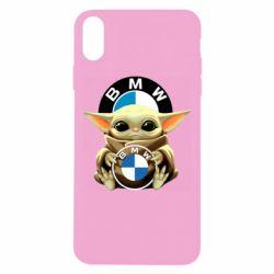 Чохол для iPhone Xs Max Baby yoda bmw