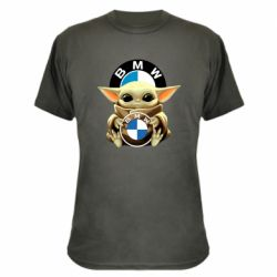 Камуфляжна футболка Baby yoda bmw