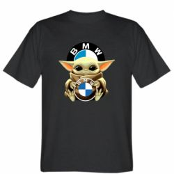 Чоловіча футболка Baby yoda bmw