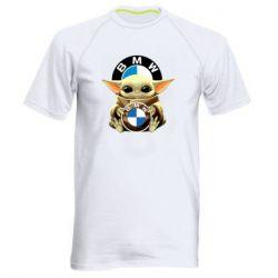Чоловіча спортивна футболка Baby yoda bmw