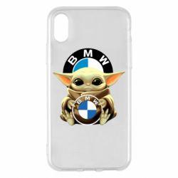 Чохол для iPhone X/Xs Baby yoda bmw