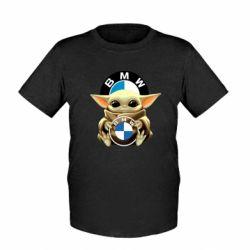 Дитяча футболка Baby yoda bmw