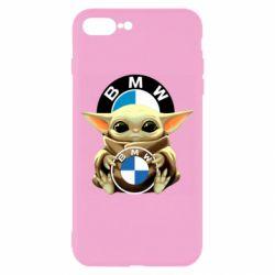 Чохол для iPhone 8 Plus Baby yoda bmw