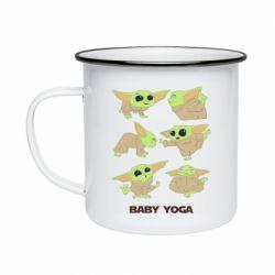Кружка эмалированная Baby Yoga