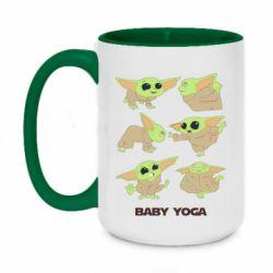 Кружка двухцветная 420ml Baby Yoga