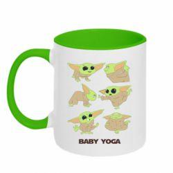 Кружка двухцветная 320ml Baby Yoga