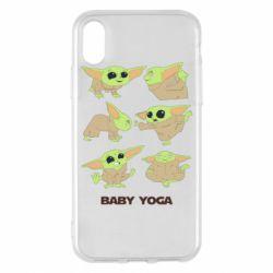 Чехол для iPhone X/Xs Baby Yoga