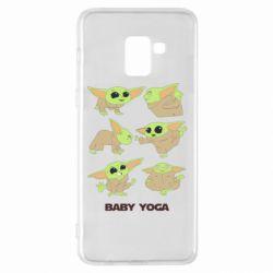 Чехол для Samsung A8+ 2018 Baby Yoga