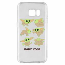 Чехол для Samsung S7 Baby Yoga