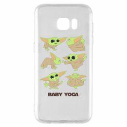 Чехол для Samsung S7 EDGE Baby Yoga