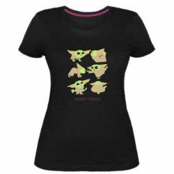 Женская стрейчевая футболка Baby Yoga