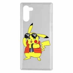 Чохол для Samsung Note 10 Back to the Future Marty McFly Pikachu