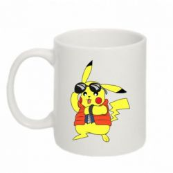 Кружка 320ml Back to the Future Marty McFly Pikachu