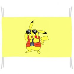 Прапор Back to the Future Marty McFly Pikachu