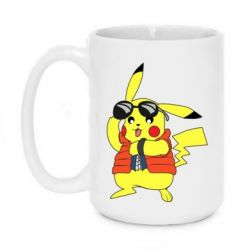 Кружка 420ml Back to the Future Marty McFly Pikachu