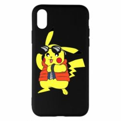 Чохол для iPhone X/Xs Back to the Future Marty McFly Pikachu