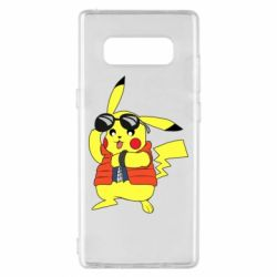 Чохол для Samsung Note 8 Back to the Future Marty McFly Pikachu