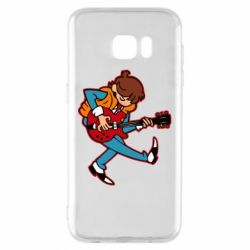 Чехол для Samsung S7 EDGE Back to the Future Marty McFly