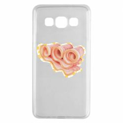 Чехол для Samsung A3 2015 Bacon with flowers on the background