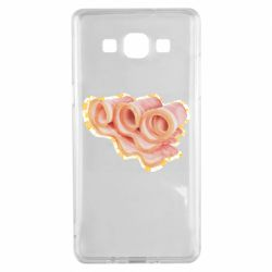 Чехол для Samsung A5 2015 Bacon with flowers on the background