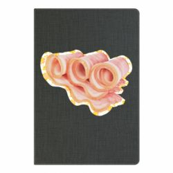 Блокнот А5 Bacon with flowers on the background