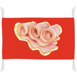 Флаг Bacon with flowers on the background