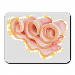 Коврик для мыши Bacon with flowers on the background