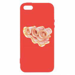 Чехол для iPhone5/5S/SE Bacon with flowers on the background