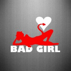 Наклейка Bad Girl - FatLine