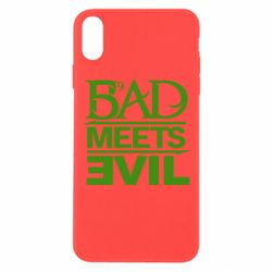 Чехол для iPhone Xs Max Bad Meets Evil