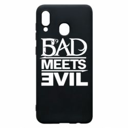 Чехол для Samsung A20 Bad Meets Evil