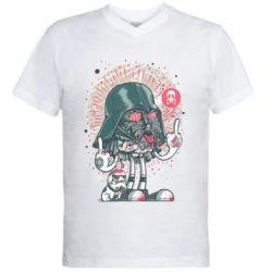 Мужская футболка  с V-образным вырезом Bad Vader