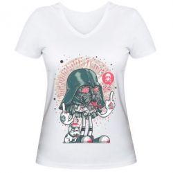 Женская футболка с V-образным вырезом Bad Vader