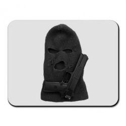 Коврик для мыши Балаклава с пистолетом - FatLine