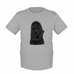 Детская футболка Балаклава с пистолетом - FatLine