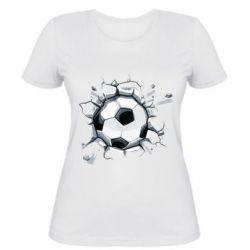 Женская футболка Ball in the asphalt