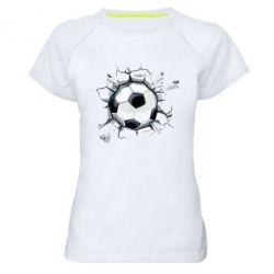 Женская спортивная футболка Ball in the asphalt