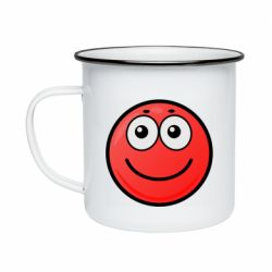 Кружка емальована Ball with smile