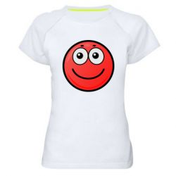 Жіноча спортивна футболка Ball with smile