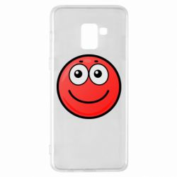 Чохол для Samsung A8+ 2018 Ball with smile