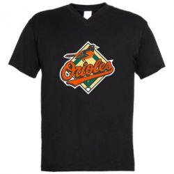 Мужская футболка  с V-образным вырезом Baltimore Orioles - FatLine