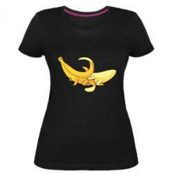Жіноча стрейчева футболка Banana in a Banana