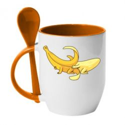 Кружка з керамічною ложкою Banana in a Banana