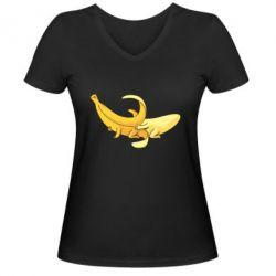 Жіноча футболка з V-подібним вирізом Banana in a Banana